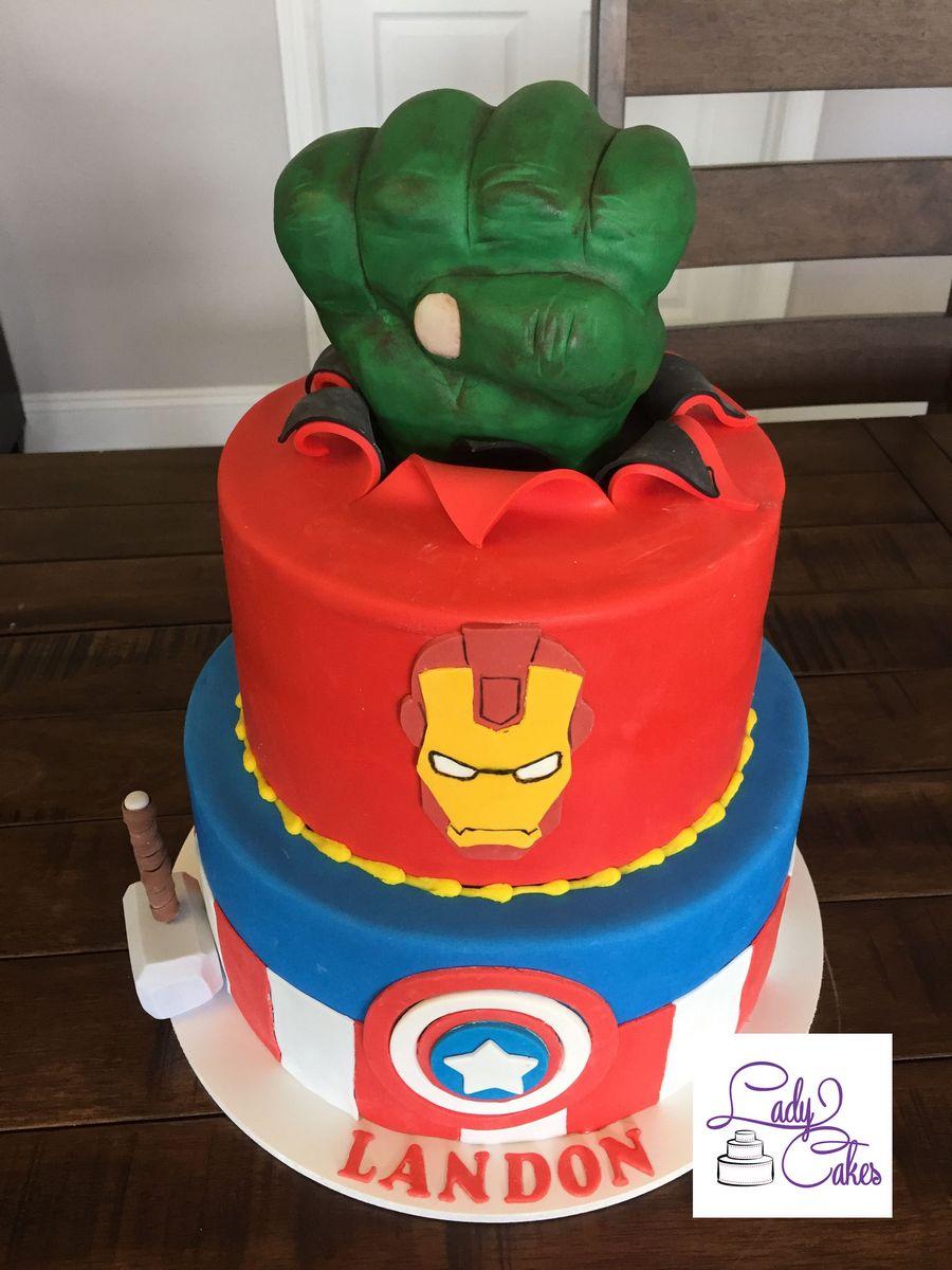 Avengers Birthday Cake   LadyCakes Bakery