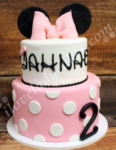 Minnie Mouse 2nd Birthday Cake