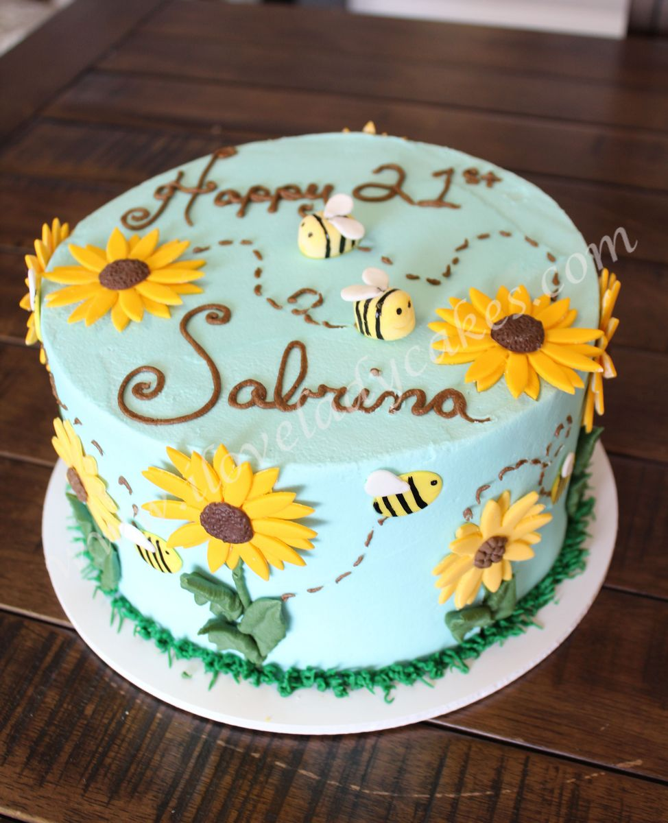 Sunflower Cake Ladycakes Bakery