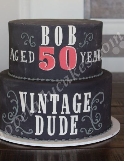 Amazing Birthday Cake Vintage Dude