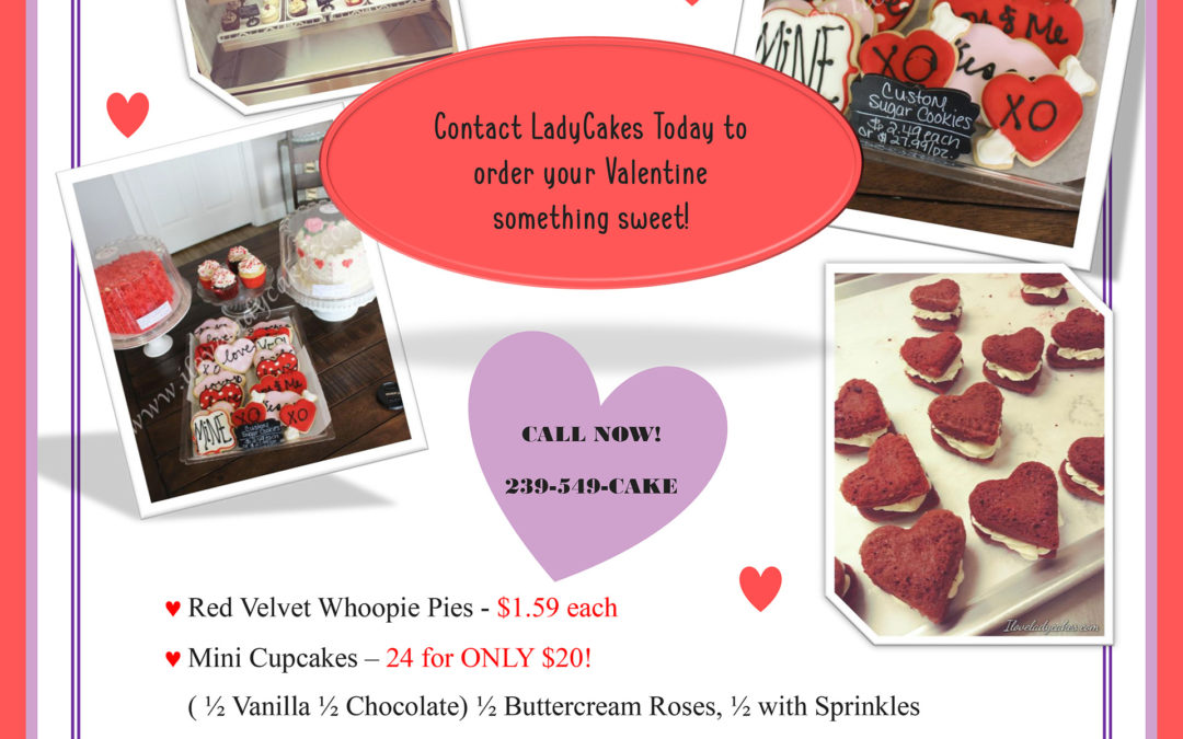 LadyCakes Valentines Day Specials – 2019